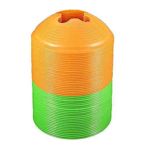 50 Counts Kevenz Plastic Sport Soccer Disc Cones Markers