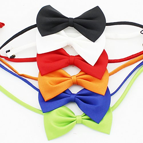 Zicome Adjustable Pet Dog Cat Bow Tie Necktie Collar - Cute Party Wedding Accessory Pet Bow Bowtie Collar - A Essential Decoration Gift to Make Your Pets Different