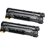 ValueToner Compatible Toner Cartridge Replacement for Canon 125 (3484B001AA) 2 Black Toners Compatible With ImageClass LBP6000, LBP6030w, MF3010 Printer