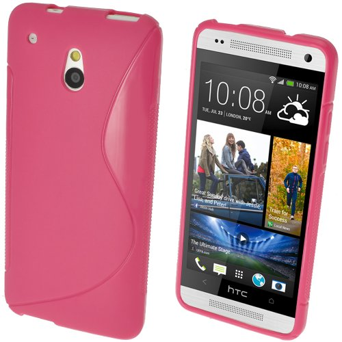 iGadgitz HTC One S-Line TPU Case (HTC One Mini M4, Pink Rosa)