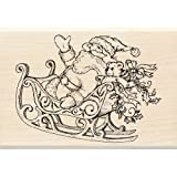 Inkadinkado Wood Stamp, Santa and Sleigh