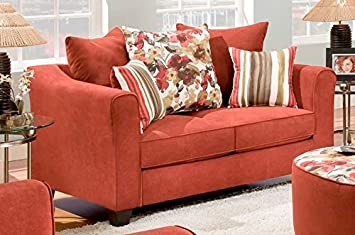 Chelsea Home Furniture Garden Party Loveseat, Diver Algerian