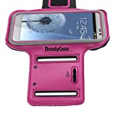 DandyCase Non-Slip Protective Gym Jogging Sports Armband Case Cover for HTC One (Also fits One X One X+) (Hot Pink)