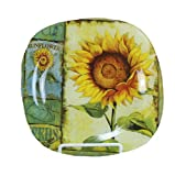 Young's Glass Sunflower Dish, 8-Inch