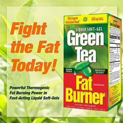 Green Tea Fat Burner Dietary Supplement 400 mg Fast-Acting Liquid Soft-Gels (Pack of 2) 400CT
