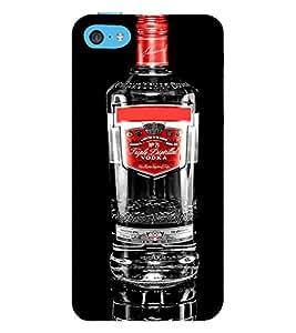 EPICCASE Booze on Mobile Back Case Cover For Apple iPhone 5c (Designer Case)
