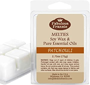 2.5 oz Patchouli 100% Soy Wax Meltie/Tart/Melt made with Pure Essential Oil from Fabulous Frannie