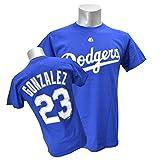 Majestic(マジェスティック) MLB ロサンゼルス・ドジャース エイドリアン・ゴンザレス Tシャツ Player Tee (ロイヤル) - M