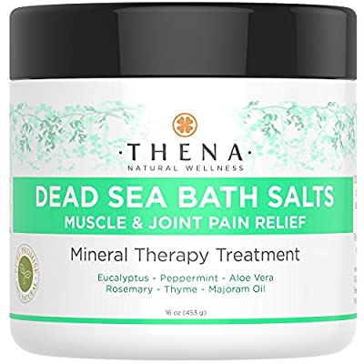 100% Pure Dead Sea Salt Mineral Bath Soak, Best Natural Therapy For Muscle Soreness Aches & Joint Pain Relief With Organic Eucalyptus & Peppermint, Reduce Inflammation From Stiff Arthritis,Sore Muscle