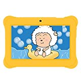 "iRULU BabyPad 1 Tablet (Y1), 7"" Tablet para niños, 1GB RAM, 8GB Nand Flash Quad Core, Android 4.4 KitKat, Resolución: 1024*600, Color Amarillo"