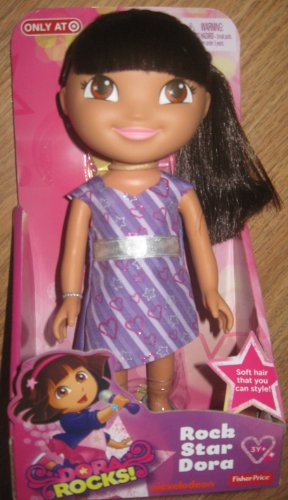"DORA ROCKS! Rock Star Dora 9"" Poseable Doll 2013 - 1"