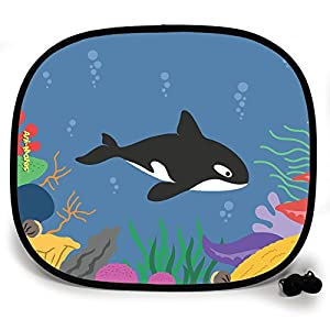 123t ANI-MATES UNDER THE SEA KILLER WHALE DESIGN PLAIN Sunshade x 1 birthday funny gift for him for her