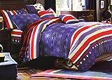 WRAP 100% COTTON DOUBLE BED DUVET SET (1 BEDSHEET 2 PILLOW COVERS & 1 DUVET COVER) CNSD-15