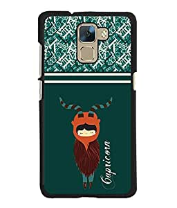Fuson 2D Printed Sunsign Capricorn Designer back case cover for Huawei Honor 7 - D4406