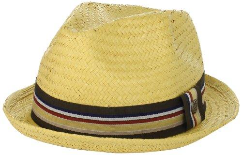 [Brixton Men's Castor Straw Fedora Hat, Tan, XL] (Sailor Straw Hat)