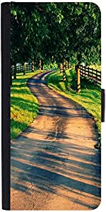 Snoogg Pathway Designer Protective Phone Flip Case Cover For Yu Yuphoria