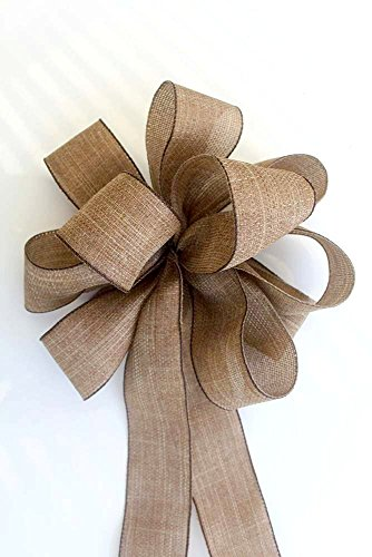 Fall burlap bow sets for wreaths and home decorating, Autumn harvest bows, set of 2, 4, 6 perfect for decorating for the fall and Thanksgiving holidays and weddings