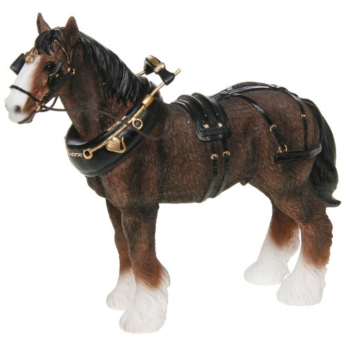 Brown Shire Horse Decorative Ornament