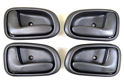 PT Auto Warehouse TO-2522G-QP - Inside Interior Inner Door Handle, Gray - 2 Left, 2 Right (1996 Toyota Corolla Door Handle compare prices)