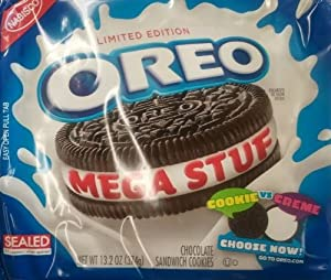 Nabisco, Oreo, Chocolate Cookie, Mega Stuf, Limited Edition, 13.2oz Bag (Pack of 4)