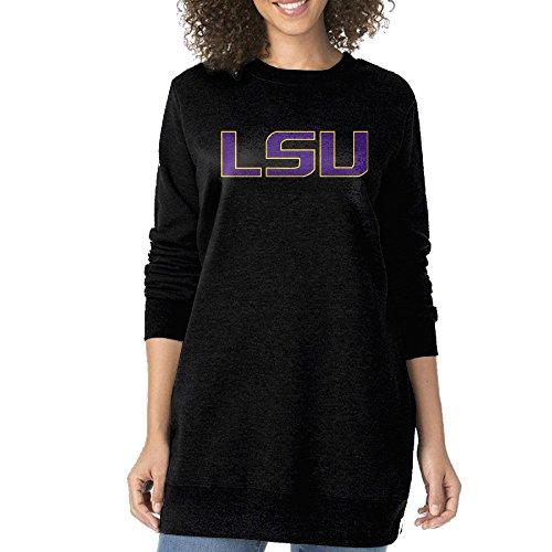 [WOQU Lady's Cotton Louisiana State University LSU Crewneck Pullover Sweatshirt L] (Lsu Mascot Costume)