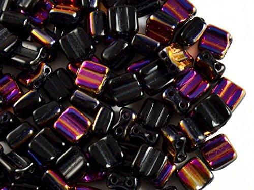 30pcs-silky-block-beads-czech-perle-di-vetro-schiacciate-piazza-6x6mm-con-due-fori-jet-black-half-pu