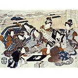 An actor seated surrounded by fashionable women, by Utagawa Kunisada (V&A Custom Print)