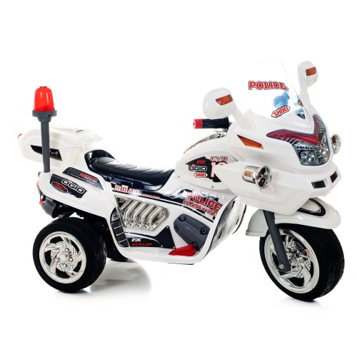 Lil' Rider Police Connection Bike Trike Ride-On, Supersize, White front-3713