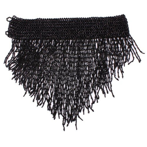 Belly Dancing Fashion Trendy Beaded Stretch Belt - Black