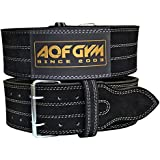 AQF Weight Lifting Nubuck Leather Power Belt Back Support Strap Gym Training Dip, Small, Medium, Large, XLarge - FREE DELIVERY