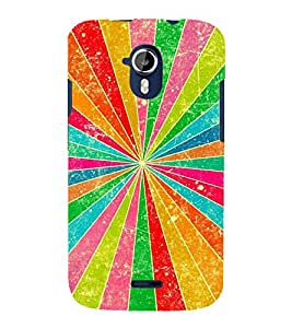 MULTICOLOURED PRISM RAYS PATTERN 3D Hard Polycarbonate Designer Back Case Cover for Micromax Canvas Magnus A117