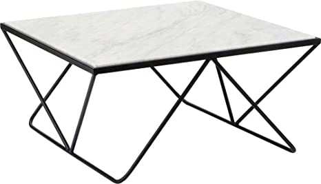 Table basse plateau marbre carrée