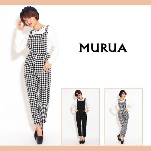 【MURUA(ムルーア)】BACKクロスオーバーオール 2(M)サイズ ライトミックス(80)