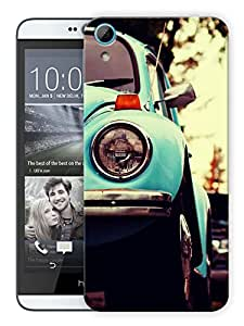 "Humor Gang Old Vintage Car Printed Designer Mobile Back Cover For ""HTC DESIRE 826"" (3D, Matte, Premium Quality Snap On Case)"