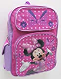 Disney Minnie Mouse Girls Pink Large Backpack Bag Tote 16 New