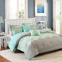 Better Homes and Gardens Kashmir 5-Piece Bedding Comforter Set Size: Full/Queen( Grey)