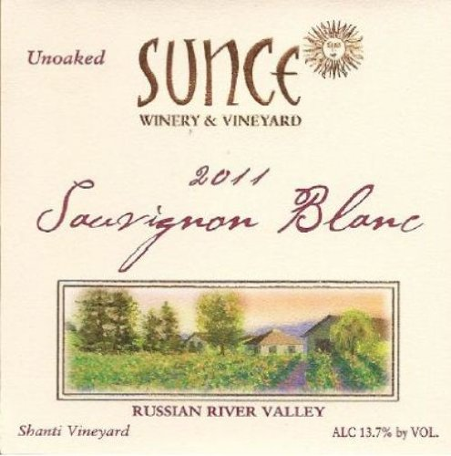 2011 Sunce Winery Sauvignon Blanc Winemaker'S Reserve 750 Ml