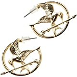 The Hunger Games Mockingjay Zinc Alloy Gold Color Hoop Earrings Costume Accessory