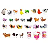 SET OF 20 WALKING ANIMAL BALLOON PETS AIR WALKERS, MIXED