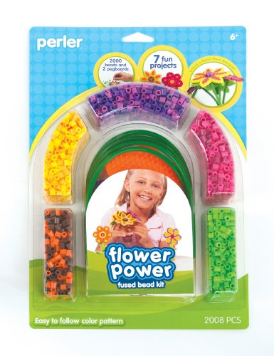 Perler Fused Bead Kit, Flower Power