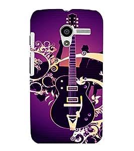 printtech Guitar Colored Pattern Back Case Cover for Motorola Moto X XT1058::Motorola Moto X (1st Gen)