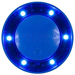 Five Star Push Button Locker Colored Light, LED, Locker Accessories, Blue, 4 in. x 1.1 in. x 4 (73565) by Five Star