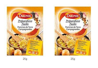 DUCROS - Solutions Cuisson - Preparations Faciles Pret a poeler - Pommes de Terre Campagnardes - 25 g - lot de 2