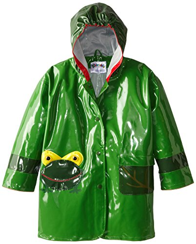 Kidorable Little Boys' Frog Raincoat, Green, 12-18 Months