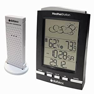 Datexx Weather Forecast Station Digital Thermometer Clock
