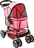 Pink Night Rider Heavy Duty Pet Stroller Jogger