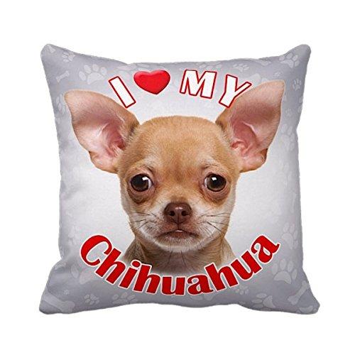 iLeesh iLove My Chihuahua Throw Pillow