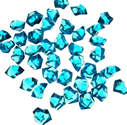 CYS Acrylic Rocks in Different Colors. Pack of 4 lbs (Light Blue)