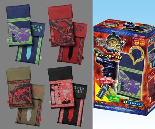 モンスターハンター3(トライ)G モンハンポーチG モンハン ゲームグッズ 食玩 カバヤ(全4種フルコンプセット