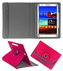 Acm Rotating 360° Leather Flip Case For Byond P3 Tablet Stand Cover Holder Dark Pink